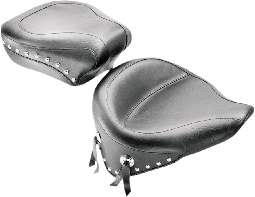 MUSTANG Wide Studded Solo Seat - FLST '08-'17 Wide Vintage Solo Seat - Team Dream Rides