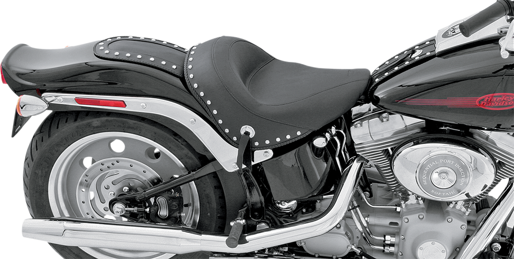 MUSTANG Wide Studded Solo Seat - Softail '06-'10 Wide Vintage Solo Seat - Team Dream Rides