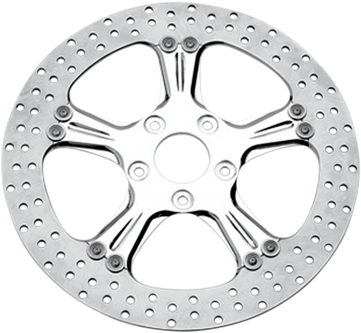 "PERFORMANCE MACHINE (PM) Brake Rotor - 13"" - Wrath - Chrome Two-Piece Brake Rotor - Team Dream Rides"