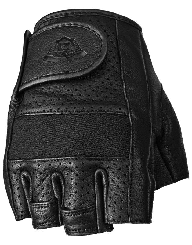 HALF JAB PERFORATED GLOVES BLACK XL - Team Dream Rides