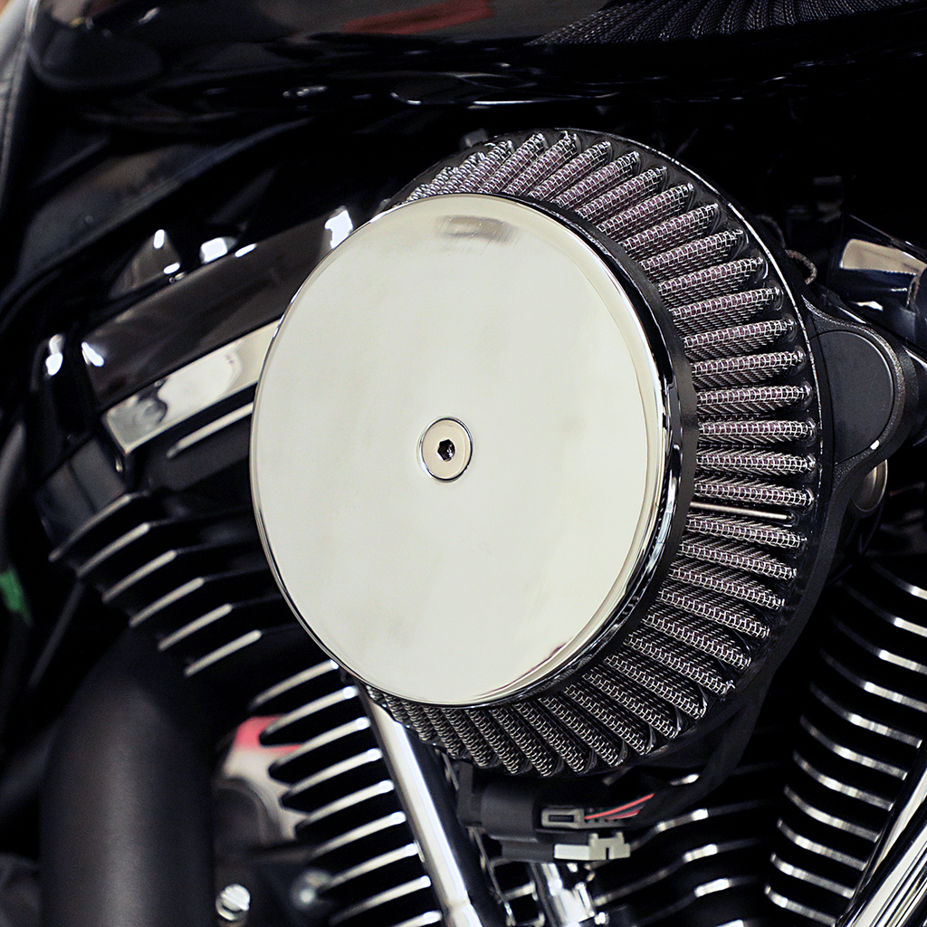 LA CHOPPERS Air Cleaner Chrome XL 91-19 Plain Cover Big Air Cleaner Kit