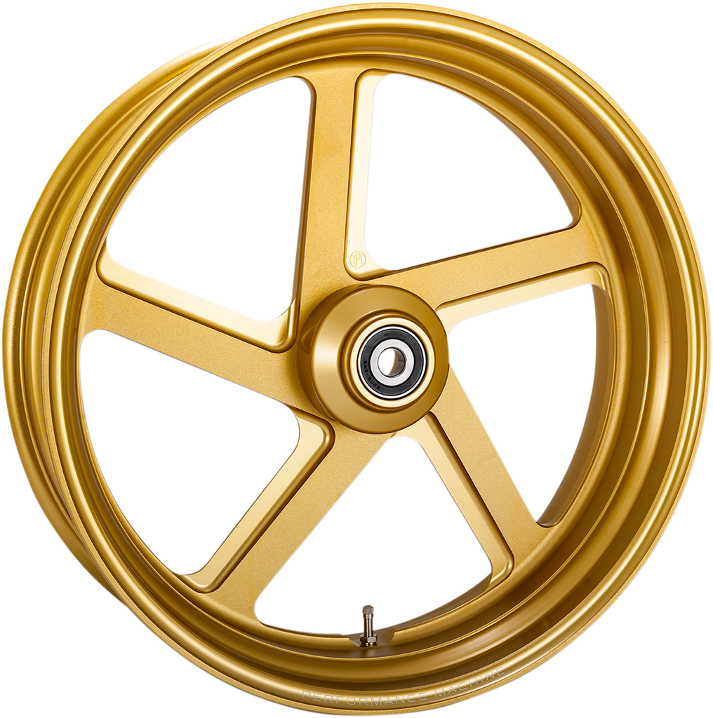 PERFORMANCE MACHINE (PM) Front Wheel - Pro-Am - Gold - 21 x 3.5 - With ABS One-Piece Pro-AM Aluminum Wheel