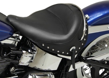 Load image into Gallery viewer, MUSTANG Wide Studded Deluxe Solo Seat Wide Vintage Solo Seat - Team Dream Rides