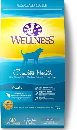 Wellness Complete Health Natural Adult Whitefish and Sweet Potato Recipe Dry Dog Food