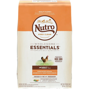 Nutro Wholesome Essentials Adult Farm-Raised Chicken, Brown Rice & Sweet Potato Dry Dog Food
