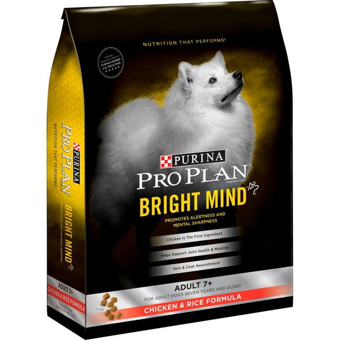 Purina Pro Plan Bright Mind Adult 7plus Chicken & Rice Formula Dry Dog Food