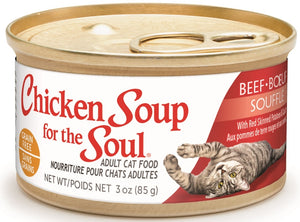 Chicken Soup For The Soul Grain Free Beef Souffle with Red Skinned Potatoes and Spinach Canned Cat Food