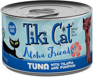 Tiki Cat Aloha Friends Tuna with Tilapia and Pumpkin Canned Cat Food