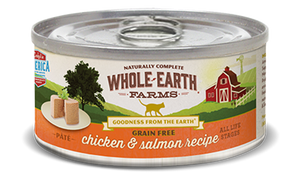 Whole Earth Farms Grain Free Chicken and Salmon Pate Canned Cat Food