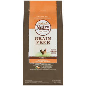 Nutro Grain Free Adult Farm-Raised Chicken, Lentils and Sweet Potato Recipe Dry Dog Food