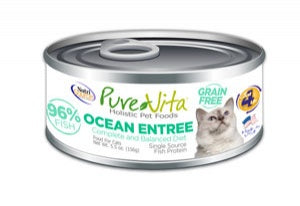 PureVita Grain Free 96% Real Oceanfish Entree Canned Cat Food