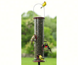 ASPECTS BIG TUBE BIRD FEEDER BURGUNDY