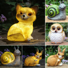 Load image into Gallery viewer, Cute Forest Animals Solar Lawn Ornaments