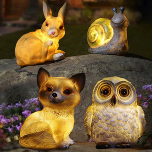 Cute Forest Animals Solar Lawn Ornaments
