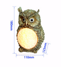 Load image into Gallery viewer, Moon Belly Solar Owl Lamp