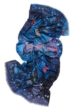 Load image into Gallery viewer, Blue Zodiac Night Sky Thin Pashmina Scarf