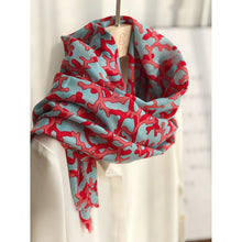 Load image into Gallery viewer, Red Coral Thin Pashmina Scarf