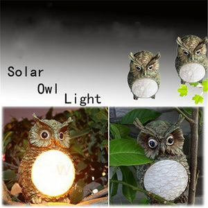 Moon Belly Solar Owl Lamp