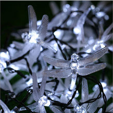 Load image into Gallery viewer, Dragonfly 20 LED Solar Garden String Lights