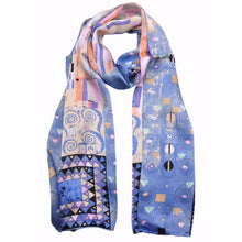"Load image into Gallery viewer, Gustav Klimt ""Fregio Stoclet"" Silk Scarf"