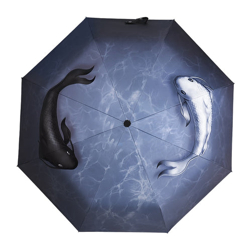 Yin Yang Lucky Fish Umbrella