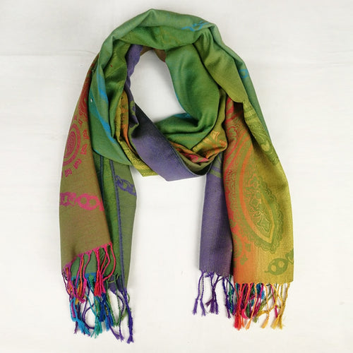 Blended Rainbow Paisley Wraps