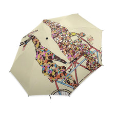 Load image into Gallery viewer, 2 Giraffes On A Bicycle Umbrella