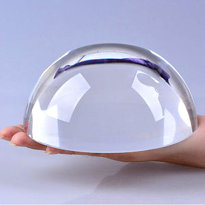 Half Ball Magnifying Crystal Paperweight