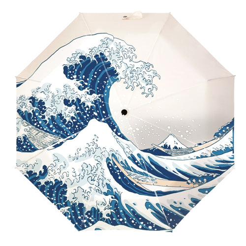 Hokusai Wave Umbrella