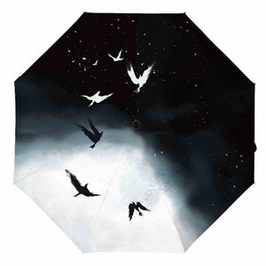 Birds In Light/Dark Flight Umbrella