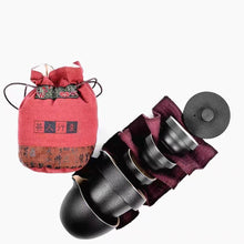 Load image into Gallery viewer, Deluxe Nesting Japanese Ceramic Travel Tea Set for 3
