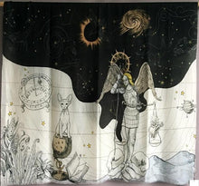 Load image into Gallery viewer, Heavenly Night & Day Star Map Zodiac Alchemical Pashmina Shawl