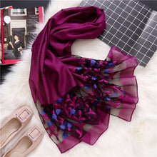 Load image into Gallery viewer, Intense Floral Silky Organza Scarves