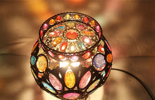 Load image into Gallery viewer, Turkish Style Flower Mosaic Gem Table Lamp