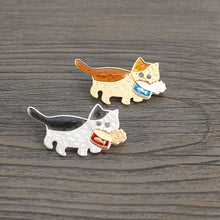 Load image into Gallery viewer, Hungry Can Hunter Cat Collar Pins