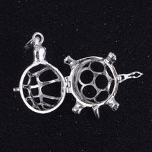 Load image into Gallery viewer, Turtle Cage Angel Caller Pendant Silver Plated