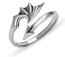 Load image into Gallery viewer, Dragon Wing Ring Sterling Silver
