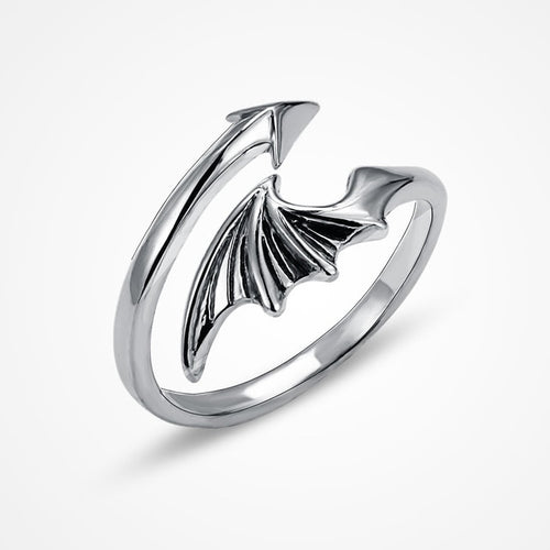 Dragon Wing Ring Sterling Silver