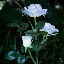 Load image into Gallery viewer, White Rose Solar Night Light