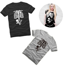 Load image into Gallery viewer, Ninja Baby Skeleton Maternity T-Shirts