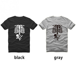 Ninja Baby Skeleton Maternity T-Shirts