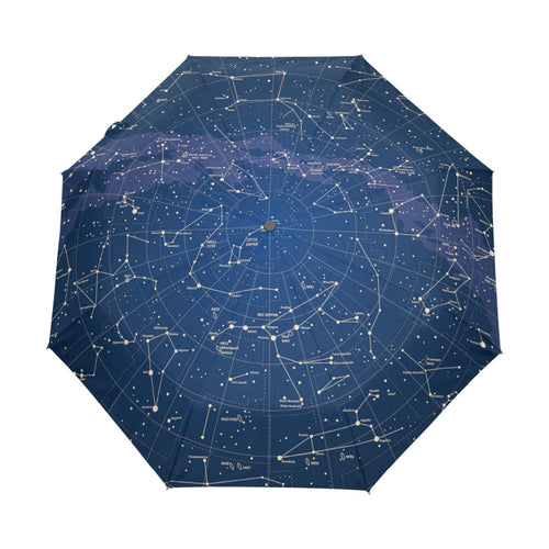 12 Constellation Star Map Umbrella
