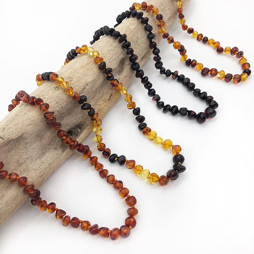 Baltic Amber Teething Bracelets/Necklaces for Mother/Babies