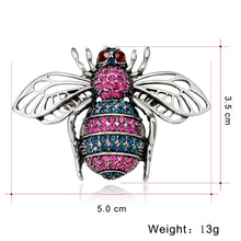 Load image into Gallery viewer, Bee Rhinestone Costume Brooches
