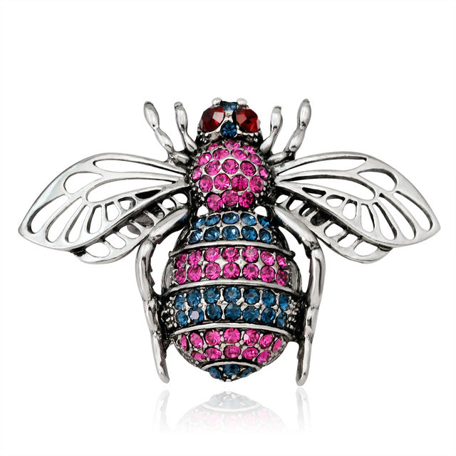 Bee Rhinestone Costume Brooches