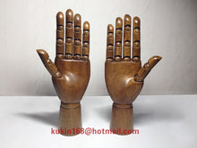 Load image into Gallery viewer, Wooden Mannequin Hand Stand (Pair)
