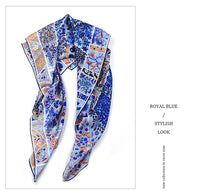 Load image into Gallery viewer, Palace Garden Large Wrap Scarves 100% Silk