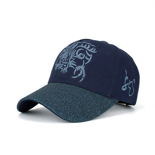 Chinese Dragon Embroidered Baseball Cap