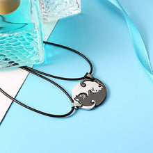 Load image into Gallery viewer, Yin Yang Cat Couple Puzzle Necklace Set Stainless Steel