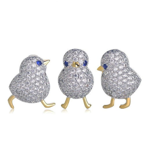 Baby Rhinestone Chicks Lapel Pins